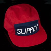 Diamond Supply Camp Hat, Color: Red in stock.