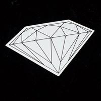 $2.00 Diamond Brilliant Sticker, Color: Black, White