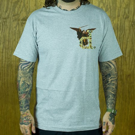 Diamond Un-Polo Angel T Shirt Heather Grey