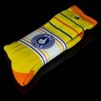 $8.00 Bro Style Stripe Socks, Color: Yellow