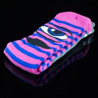 Toy Machine Sect Eye Stripe Socks, Color: Pink, Blue