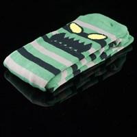 $8.00 Toy Machine Monster Stripe Socks, Color: Green, Brown