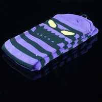 $8.00 Toy Machine Monster Stripe Socks, Color: Black, Purple