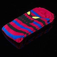$8.00 Toy Machine Monster Stripe Socks, Color: Blue, Red
