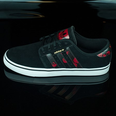 Size 10 in adidas Seeley Shoes, Color: Black, Power Red, White