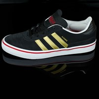 adidas Dennis Busenitz Vulc Shoes, Color: Black, Metallic Gold, Scarlet in stock.