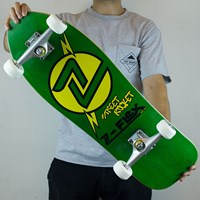 $100.00 Z-Flex Street Rocket Complete Skateboard, Color: Green