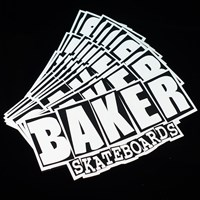 $1.00 Baker Brand Logo Medium Sticker, Color: Black