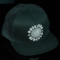 Spitfire Wheels Posse Classic Trucker Hat, Color: Black in stock.