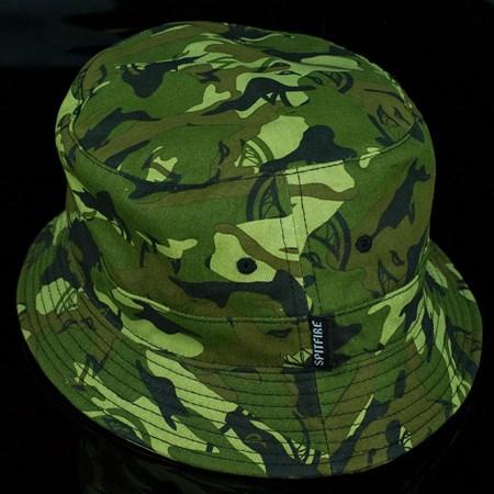 Spitfire Wheels Trademark Bucket Hat, Color: Camo