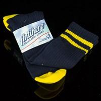 $8.00 Anti Hero Stryper Socks, Color: Navy, Gold