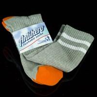 $8.00 Anti Hero Stryper Socks, Color: Heather Grey, White
