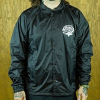 Real Almighty Coaches Jacket, Color: Black in stock.