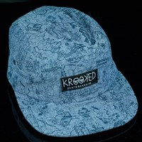 $32.00 Krooked Karacters 5 Panel Hat, Color: Blue