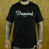 $32.00 Diamond Champagne T Shirt, Color: Black