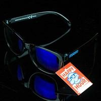 $14.00 Happy Hour Shades Shocking Blues Sunglasses, Color: Black, Blue