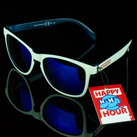 Happy Hour Shades The Cove Sunglasses, Color: White, Blue