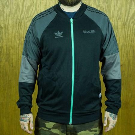adidas adidas X Krooked Reversible Track Jacket Black, Solo Mint