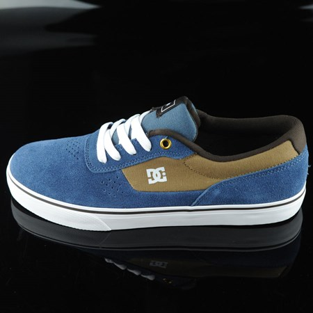 Size 8.5 in DC Shoes Switch Shoes, Color: Navy, Camel