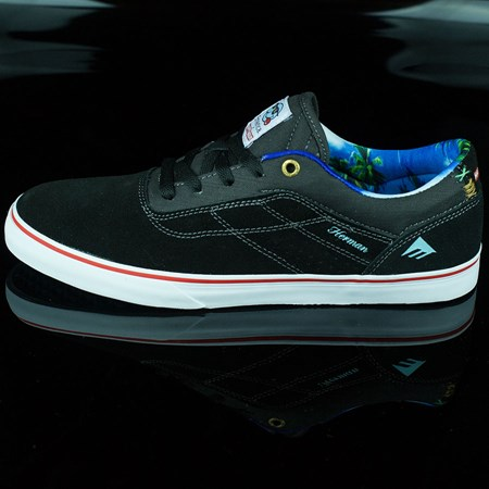 Emerica Emerica X Happy Hour Herman G6 Vulc Shoes, Color: Black, White