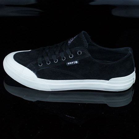 Size 11 in HUF Classic Lo Shoes, Color: Black, Bone