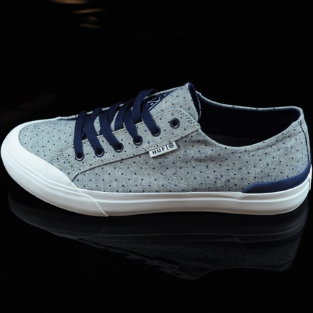 Size 9.5 in HUF Classic Lo Shoes, Color: Navy Dot