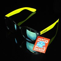 $14.00 Happy Hour Shades Dreamers 4.2 Sunglasses, Color: Black, Yellow