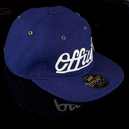 The Official Brand Premium Edge Strap Back Hat, Color: Navy