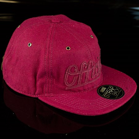 The Official Brand Premium Edge Strap Back Hat, Color: Burgundy