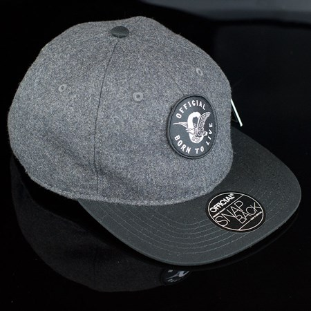 The Official Brand JT Eagle Wool Snap Back Hat, Color: Grey, Black