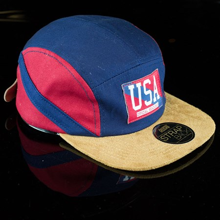 The Official Brand USA Camp Hat, Color: Blue, Red