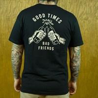 $25.00 Sketchy Tank Good Times T Shirt, Color: Black