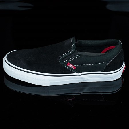 Size 11.5 in Vans Slip On Pro Shoes, Color: Black, White, Red