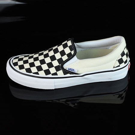 Size 8.5 in Vans Slip On Pro Shoes, Color: Black, White, Checkerboard