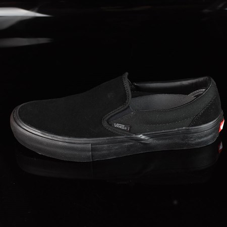 Size 8.5 in Vans Slip On Pro Shoes, Color: Blackout
