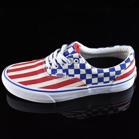 Size 10 in Vans Era Pro Shoes, Color: (50th) '83 Stars And Stripes