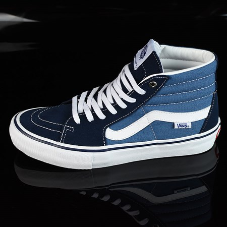 Size 8.5 in Vans Sk8-Hi Pro Shoes, Color: Navy, White