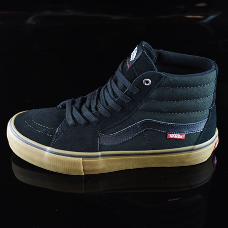 Size 9 in Vans Sk8-Hi Pro Shoes, Color: Black, Gum