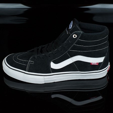 Size 8.5 in Vans Sk8-Hi Pro Shoes, Color: Black, White, Red