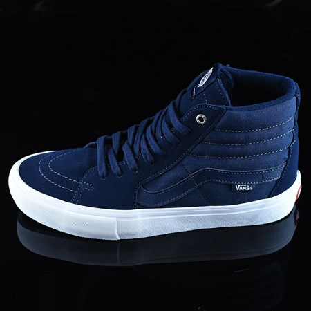 Size 11 in Vans Sk8-Hi Pro Shoes, Color: Navy, Navy, White