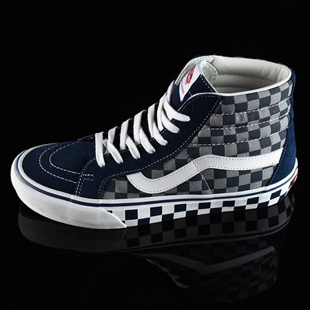 Size 10.5 in Vans Sk8-Hi Pro Shoes, Color: '83 Navy Checkered