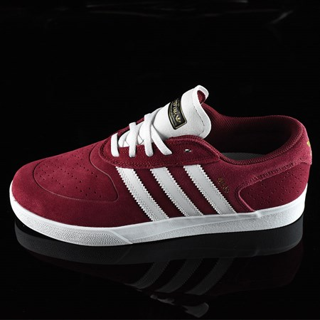 Size 10.5 in adidas Silas Vulc ADV Shoes, Color: Burgundy