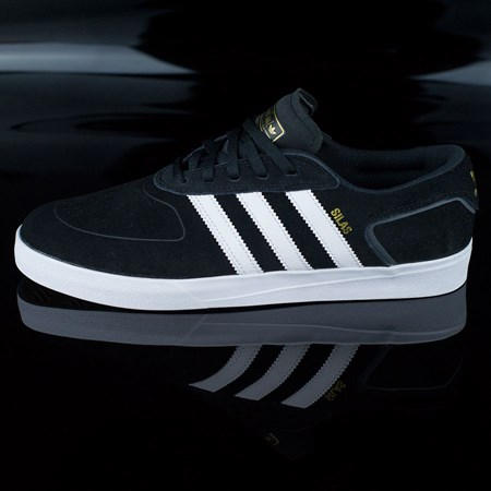 Size 10.5 in adidas Silas Vulc ADV Shoes, Color: Black, White