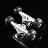$50.00 Mini Logo Trucks And Wheels Assembly, Color: Silver, Black