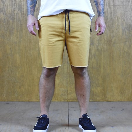 Size Extra Large in Brixton Madrid Shorts, Color: Gold