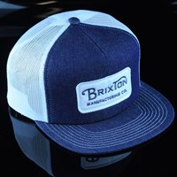 $23.00 Brixton Grade Trucker Hat, Color: Denim