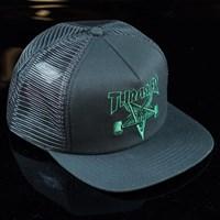 $18.00 Thrasher Skate Goat Embroidered Trucker Hat, Color: Black, Green