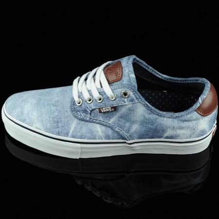 Size 9 in Vans Chima Ferguson Pro Shoes, Color: Light Navy, Acid Wash