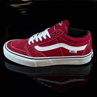 $64.00 Vans TNT SG Shoes, Color: Scarlet, White