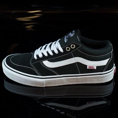 Size 7 in Vans TNT SG Shoes, Color: Black, White